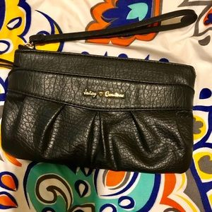Like new - Juicy Couture black leather wristlet